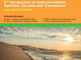 INSCIT 2017 - 2nd Symposium on Instrumentation Systems, Circuits and Transducers